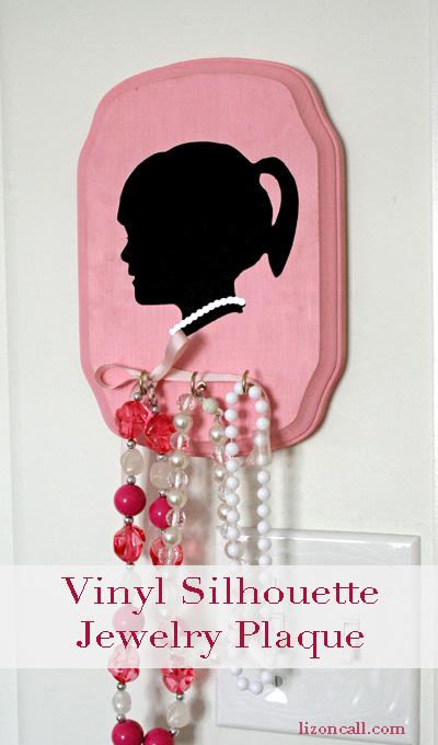 Vinyl Silhouette Jewelry Plaque 1