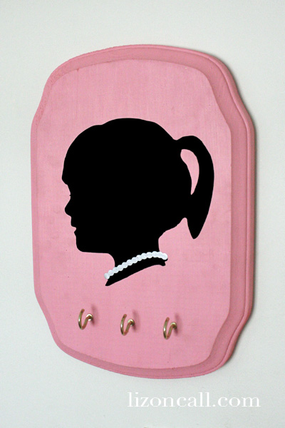Vinyl Silhouette Jewelry Plaque 6