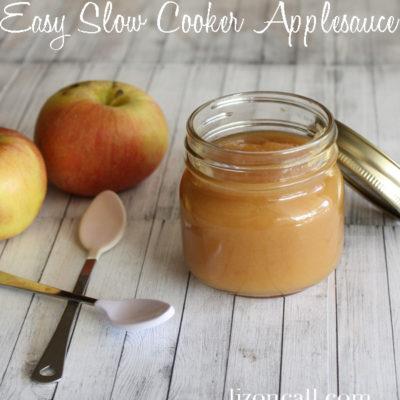Easy Slow Cooker Applesauce