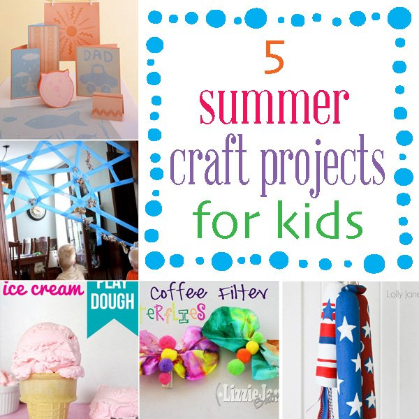 5 kid crafts to keep the kids busy this summer #kidcrafts #summer