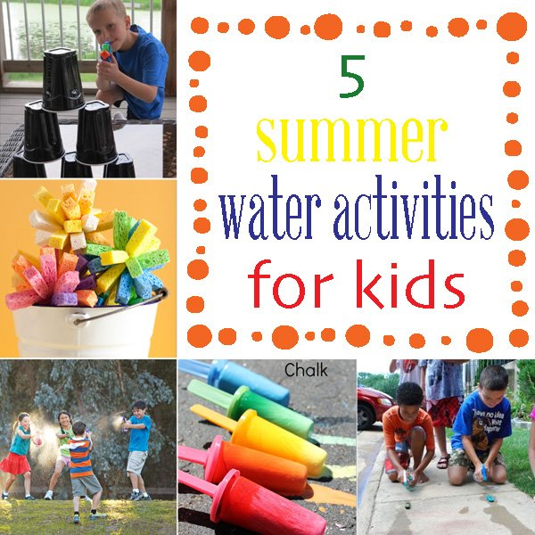 5 water activities to keep kids busy this summer #summer #kids #waterfun