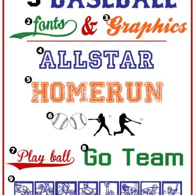Baseball Fonts & Graphics
