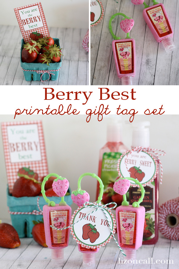 "Printable gift tag set - ""berry"" best #teacher #gift"