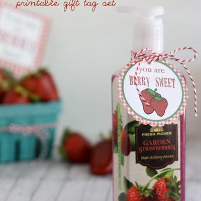 """Berry"" Best Printable Gift Tags"