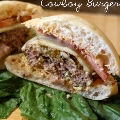 Spicy Green Chile Cowboy Burger #15MinuteSupper