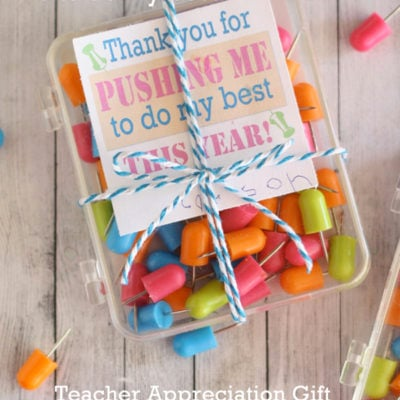 Thanks For Pushing Me to do My Best – Teacher Appreciation