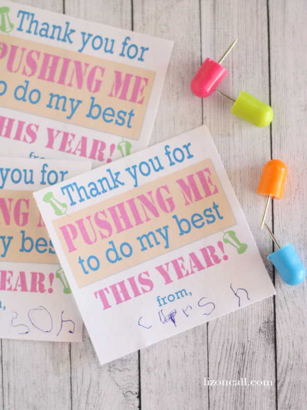 Thanks for pushing me to do my best #teacher appreciation #printables
