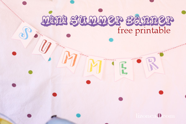 #summer printable banner