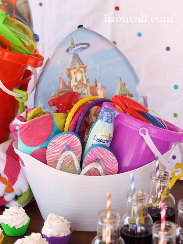 Fun summer supply bucket #summer