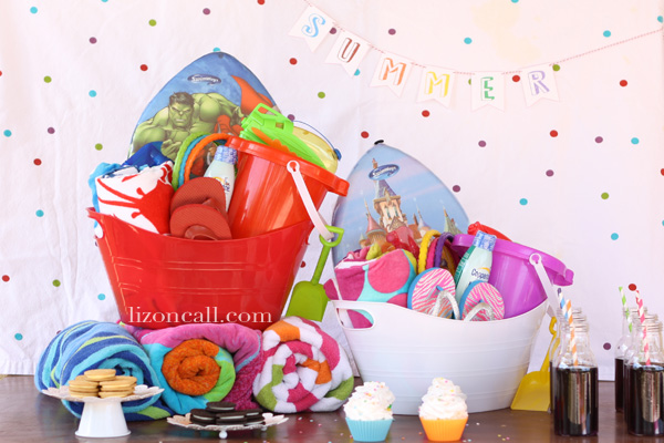 give kids a bucket full of fun stuff to use all summer! #summer