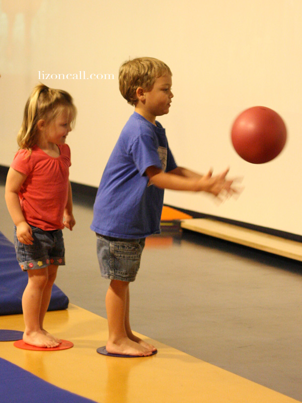 enroll kids in an indoor gym to keep them active and busy