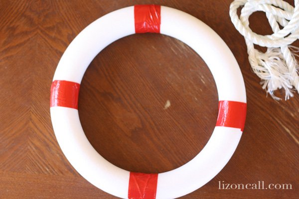 Welcome Aboard Lifesaver Wreath perfect for #summer #wreath