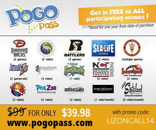 Save money on Family Fun in Phoenix area with the #POGOPass with code: LIZONCALL14