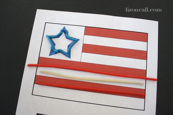 4th of July printable Activity sheets to create edible art.  #kidcraft #4thofJuly #printable
