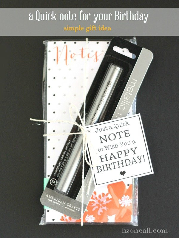 birthday note card for a quick gift printable