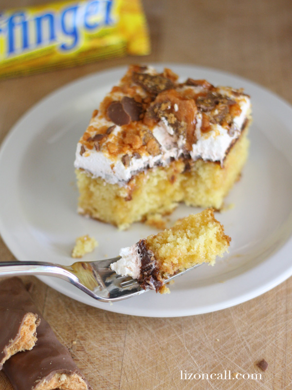 Butterfinger Better Than Anything Cake #butterfinger #cake (lizoncall.com)