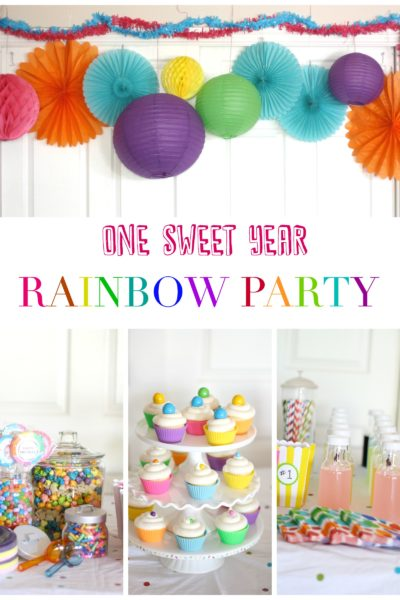 One Sweet Year: First Birthday Rainbow Party