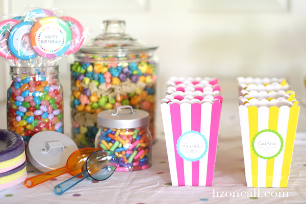 One sweet year rainbow birthday party with candy bar #birthday #rainbow #party
