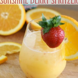 Sunshine Berry Spritzer – Non Alcoholic Brunch Party Punch Recipe