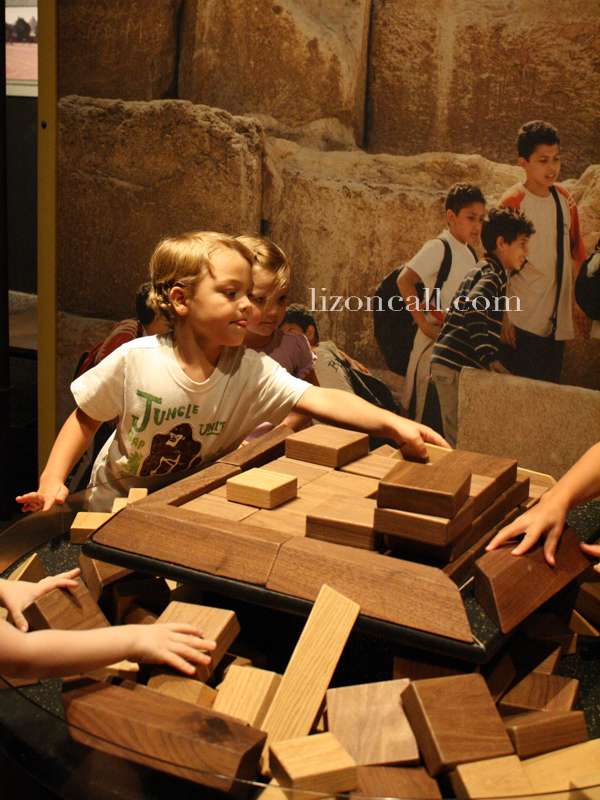 Lost Egypt exhibit at the AZ Science Center - build a pyramid