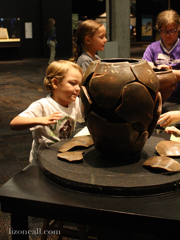 Lost Egypt exhibit at the AZ Science Center - piece together a broken pot