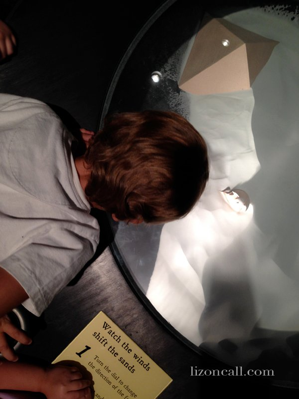 Lost Egypt exhibit at the AZ Science Center - watch the sands change with the winds