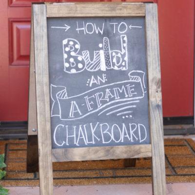 A Frame Chalkboard Sandwich Board
