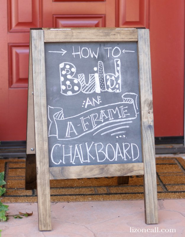 How to build an A Frame Chalkboard