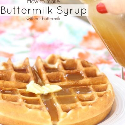 How to make Buttermilk Syrup if you don't have Buttermilk
