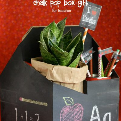 Chalkboard Pop Box Teacher Gift