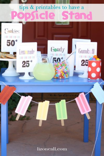 Tips and Printables for a Popsicle Stand