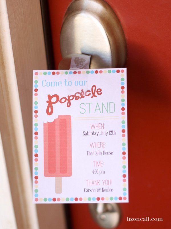 tips and printables to have a successful popsicle stand #summer #popsiclestand  - lizoncall.com