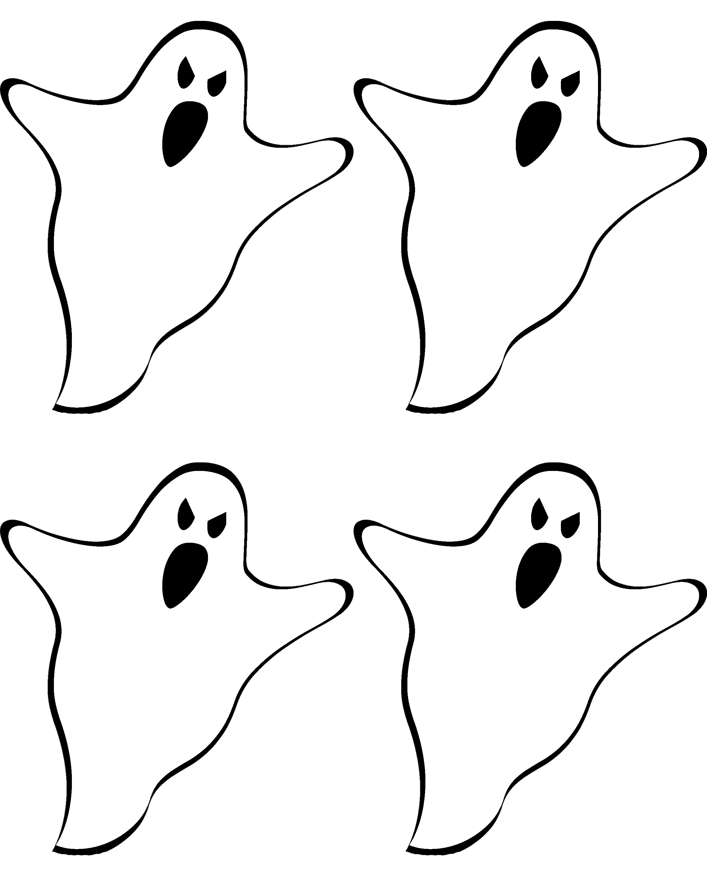 Sweet image within ghost printable