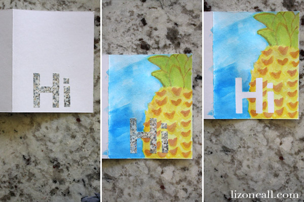 Brighten someones day by making them a watercolor card - Liz on Call #watercolor