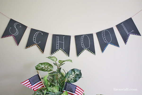 Simple chalkboard banner made with using cereal boxes #chalkboardbanner - Liz on Call