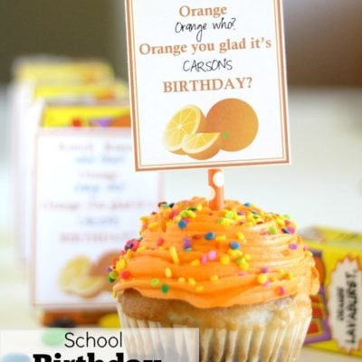 School Birthday Treat Idea