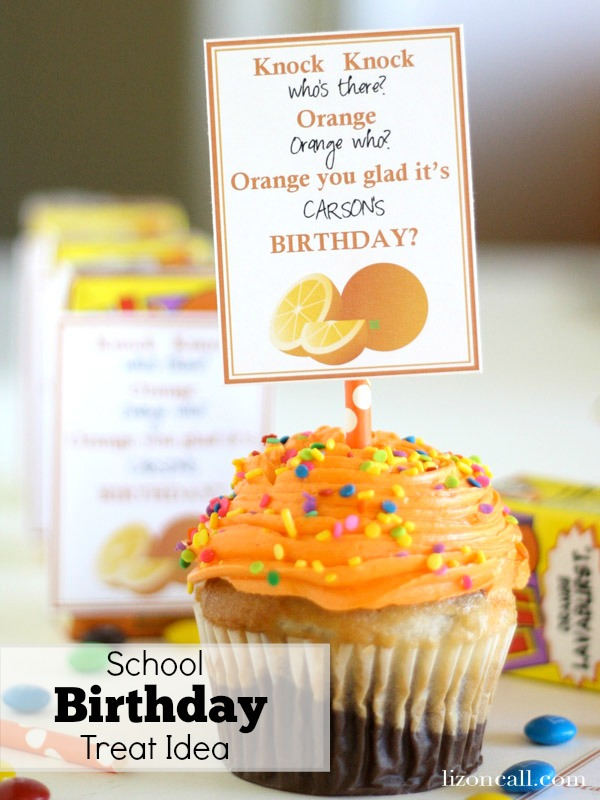 Birthday Treat idea for kids to share at school #birthday #school - Liz on Call