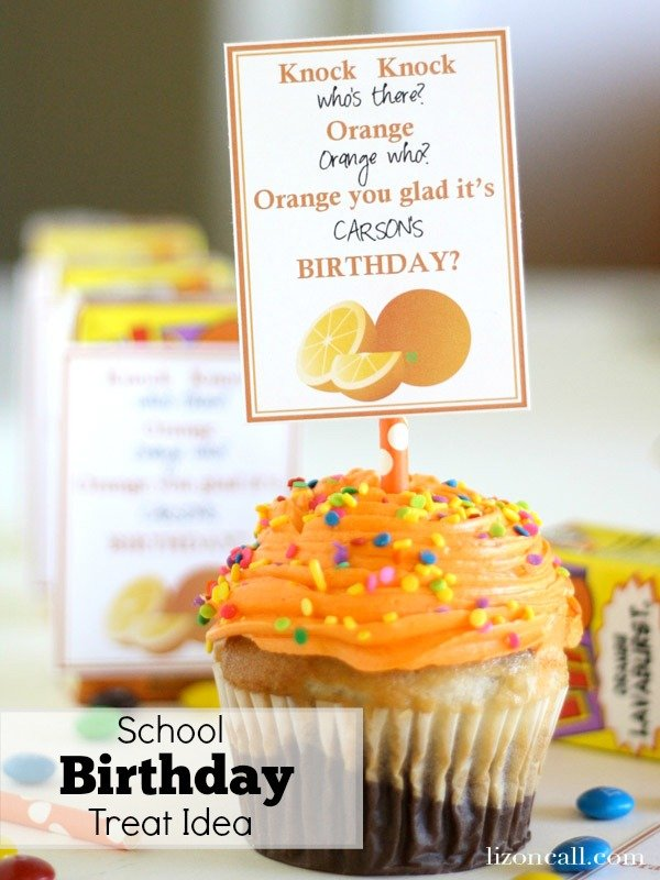Birthday Treat idea for kids to share at school #birthday #school - Liz on Call