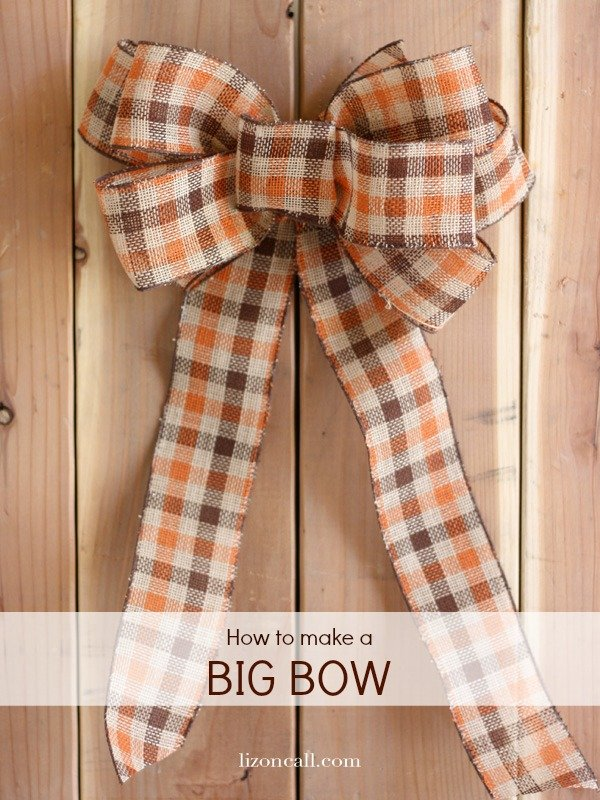 How to make a big bow for wreath liz on call