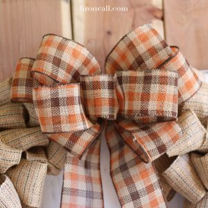 How to Make a Big Bow for a Wreath