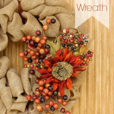 Updated Burlap Fall Wreath