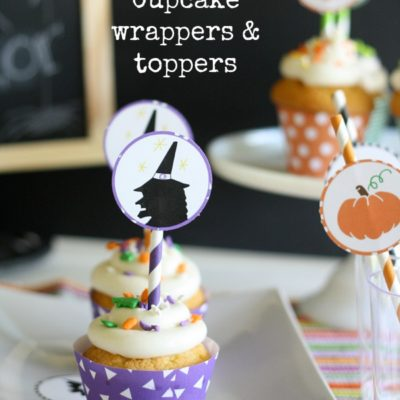 Halloween Cupcake Wrappers & Toppers | Halloween Bash Blog Hop