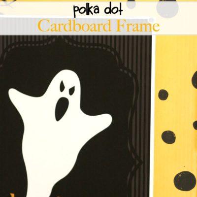 Polka Dot Cardboard Frame