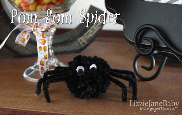 how to make pom pom spider