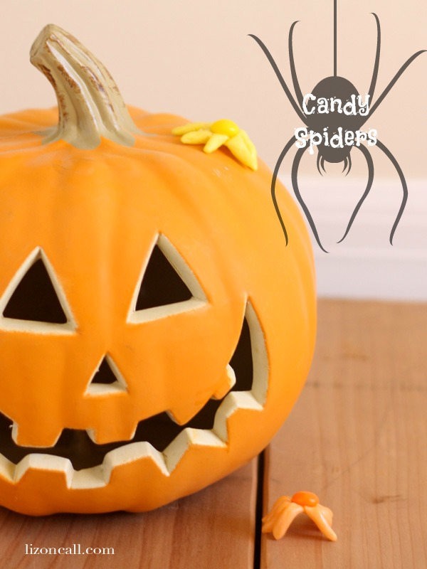 Candy spiders, craft with all that Halloween candy #SweetorTreat #CollectiveBias #shop