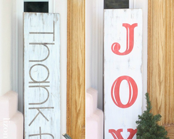 Reversible Holiday Porch Sign