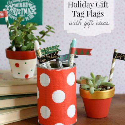 Free Printable Holiday Gift Tag Flags