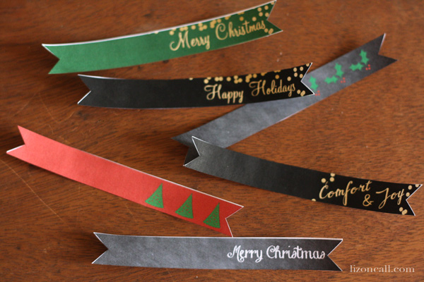Attach these free printable holiday gift tag flags to any gift this season.  Plus great teacher gift ideas.