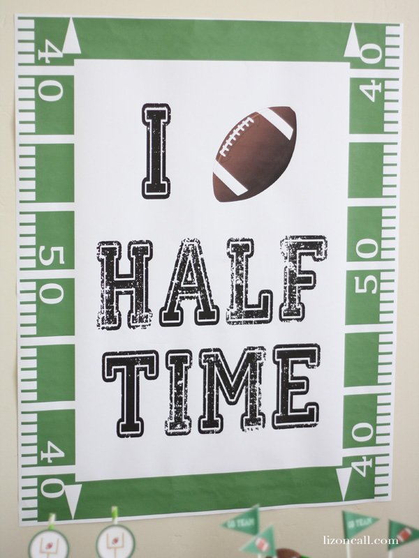 Free Super Bowl Party Printable - I love Halftime - lizoncall.com