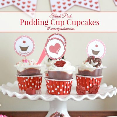 Pudding Cup Cupcakes #snackpackmixins